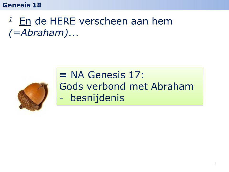 1 En de HERE verscheen aan hem (=Abraham)...