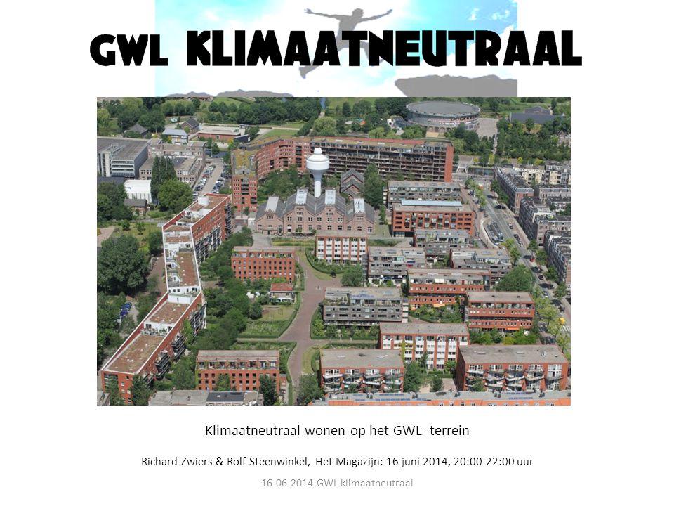 Klimaatneutraal wonen op het GWL -terrein