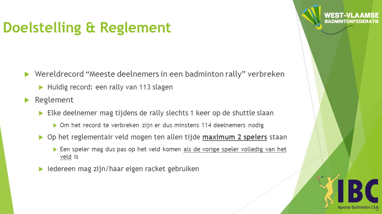 Doelstelling & Reglement