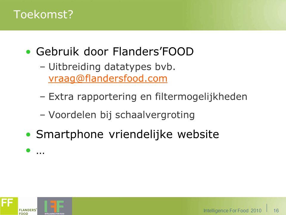 Gebruik door Flanders'FOOD