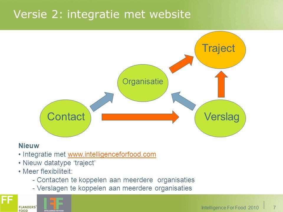 Versie 2: integratie met website