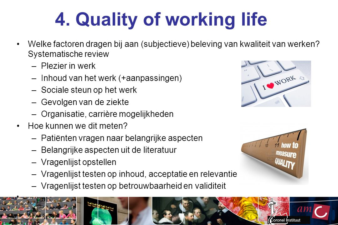 4. Quality of working life