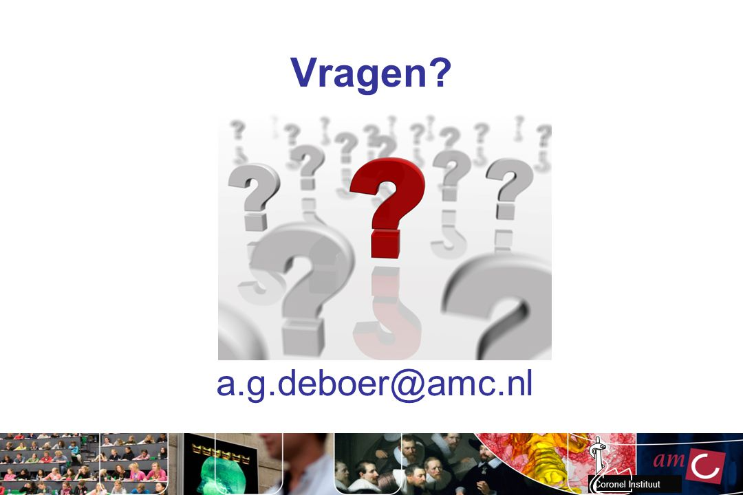 Vragen a.g.deboer@amc.nl