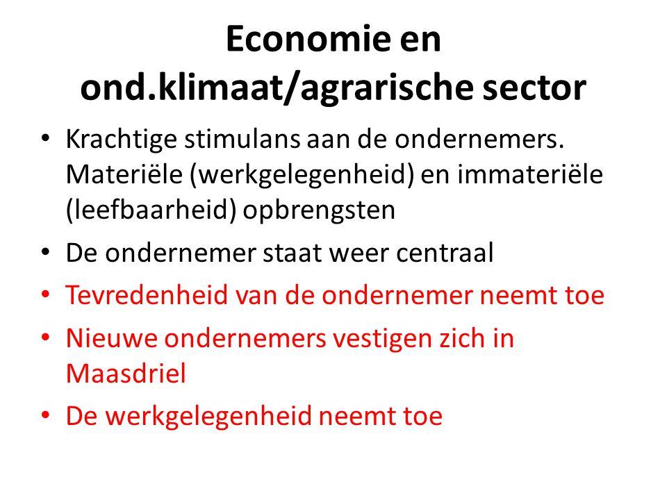 Economie en ond.klimaat/agrarische sector