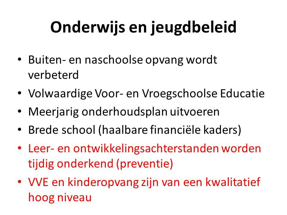 Onderwijs en jeugdbeleid