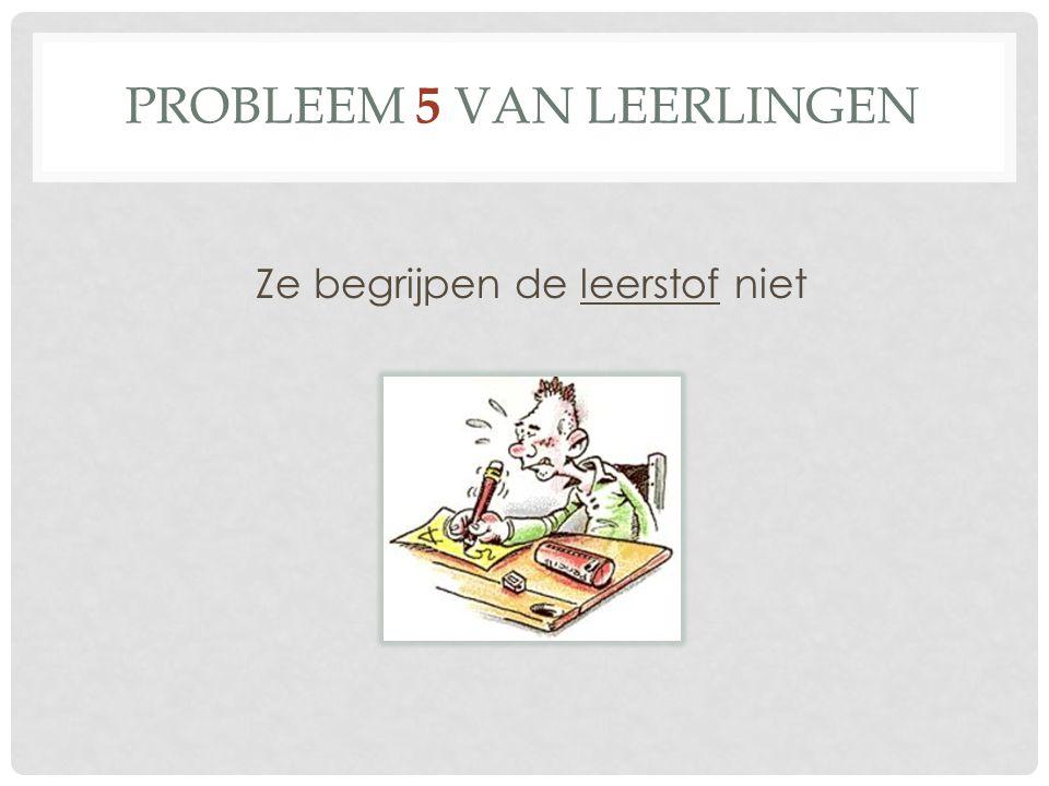 Probleem 5 van leerlingen