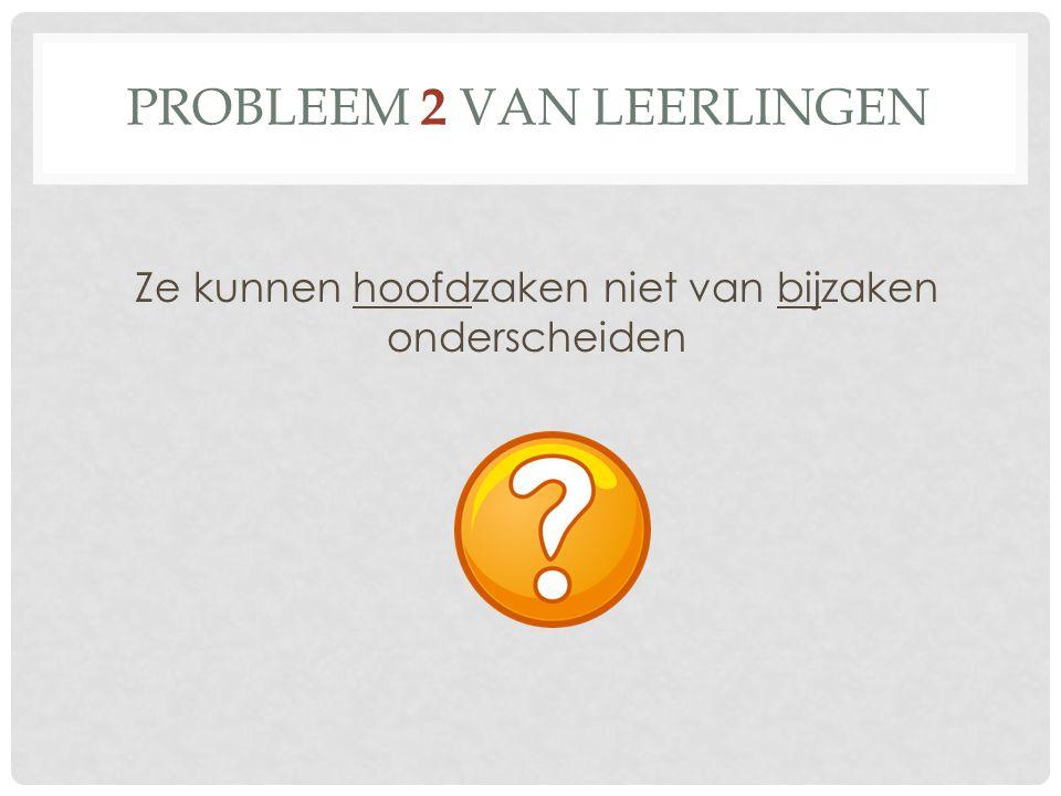 Probleem 2 van leerlingen