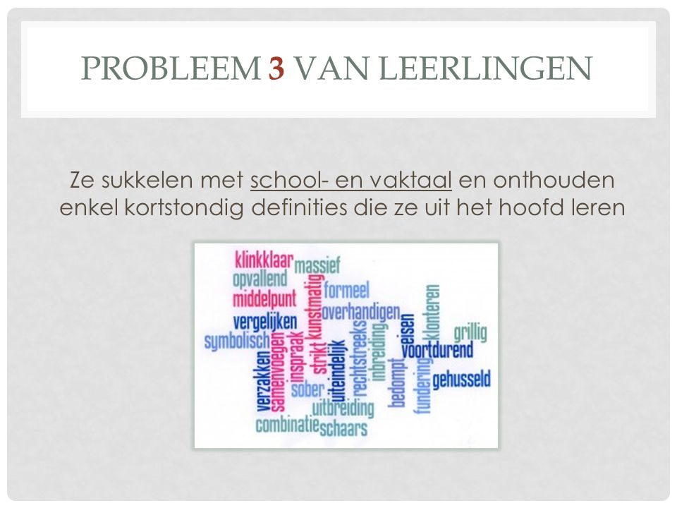 Probleem 3 van leerlingen