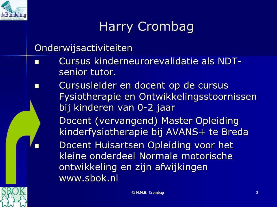 Harry Crombag Onderwijsactiviteiten