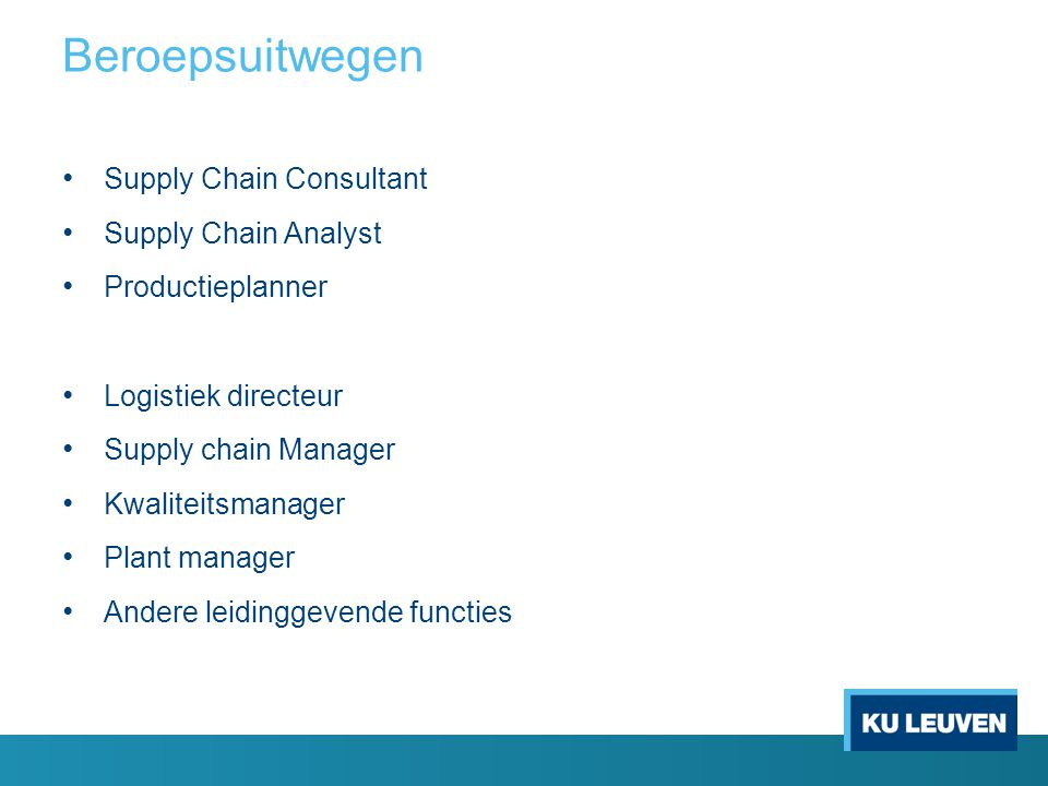Beroepsuitwegen Supply Chain Consultant Supply Chain Analyst