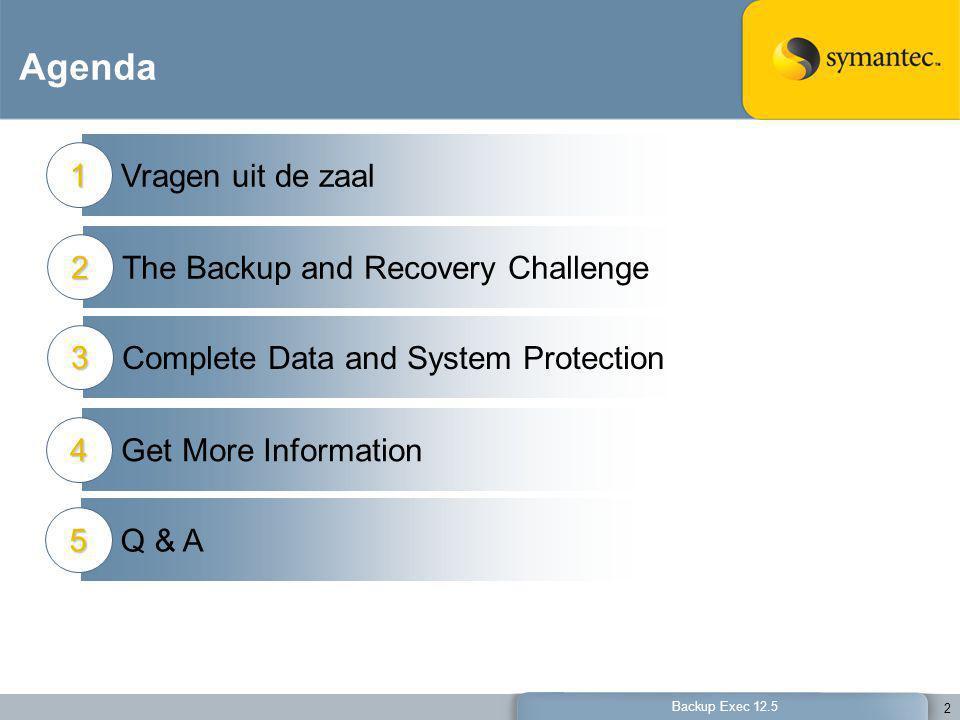 Agenda Vragen uit de zaal 1 The Backup and Recovery Challenge 2