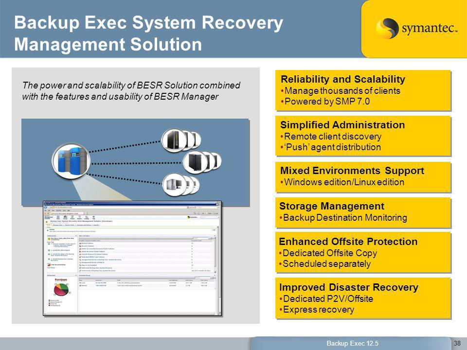 Backup Exec System Recovery Management Solution