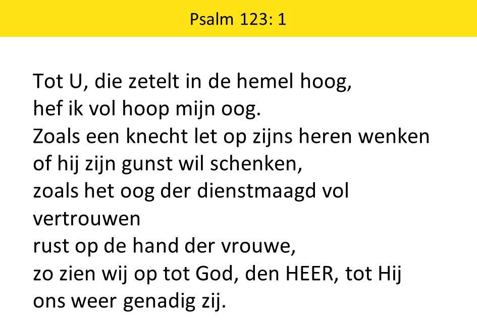 Psalm 123: 1