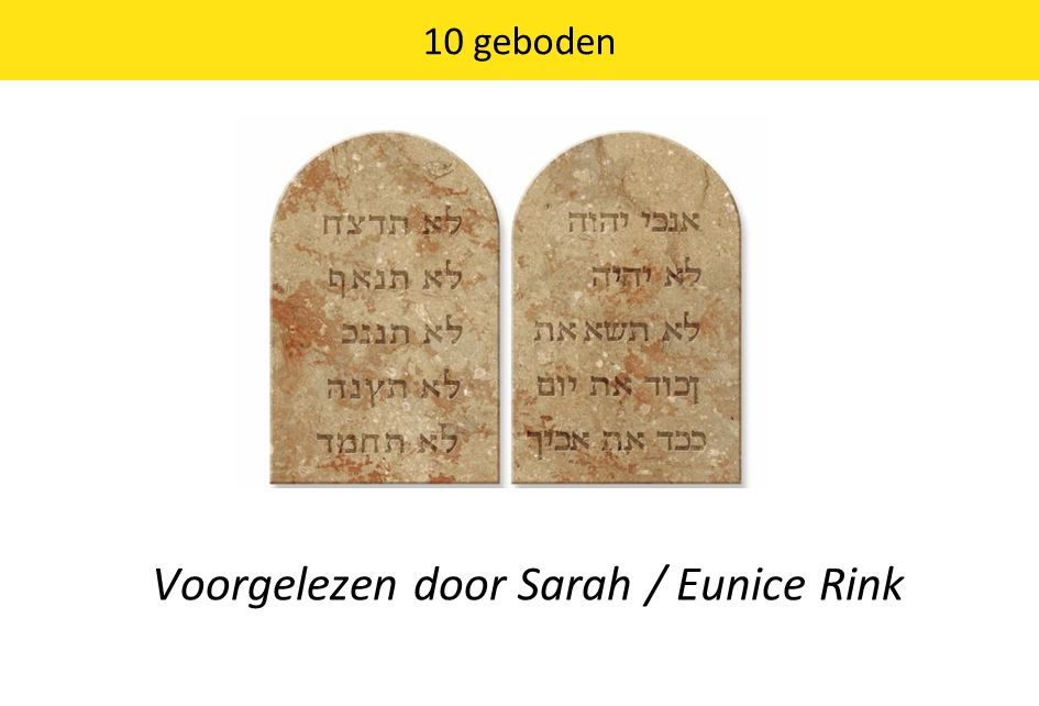Voorgelezen door Sarah / Eunice Rink