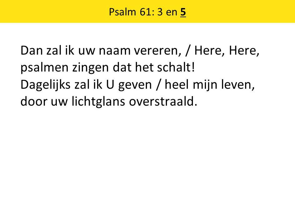 Psalm 61: 3 en 5