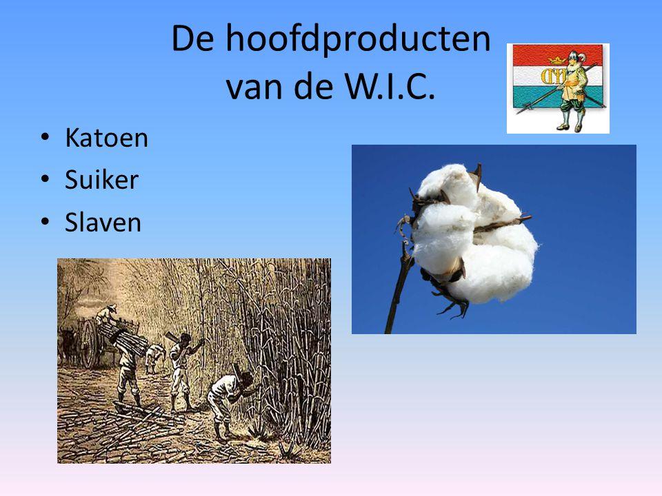 De hoofdproducten van de W.I.C.