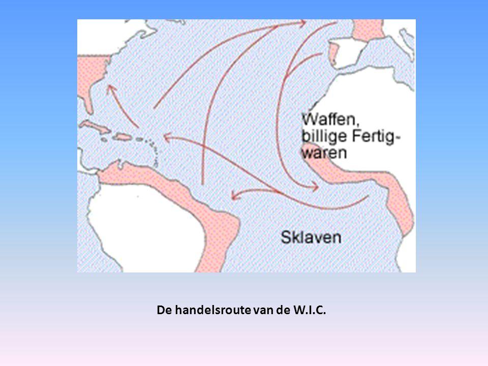 De handelsroute van de W.I.C.