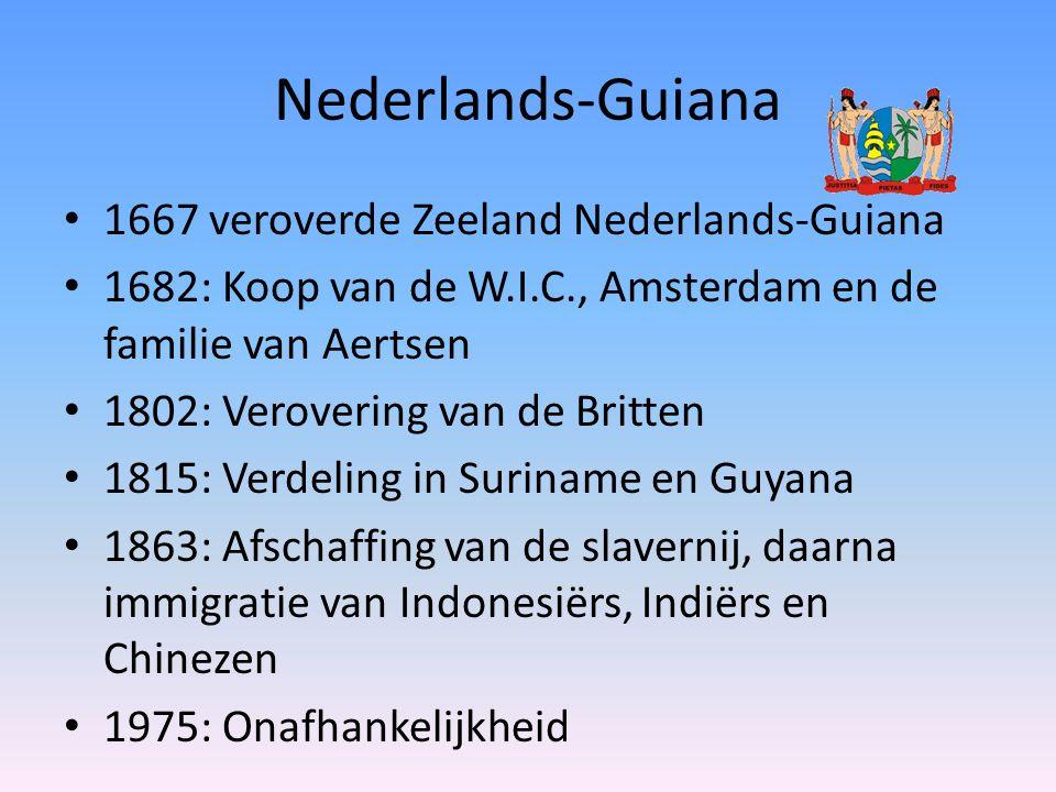 Nederlands-Guiana 1667 veroverde Zeeland Nederlands-Guiana