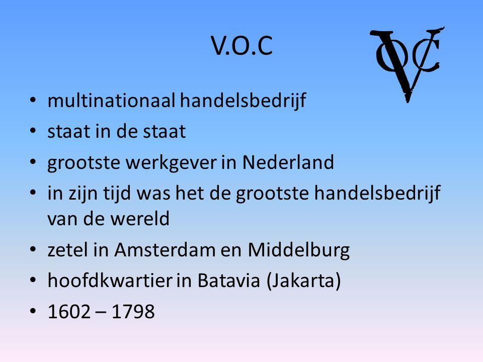 V.O.C multinationaal handelsbedrijf staat in de staat