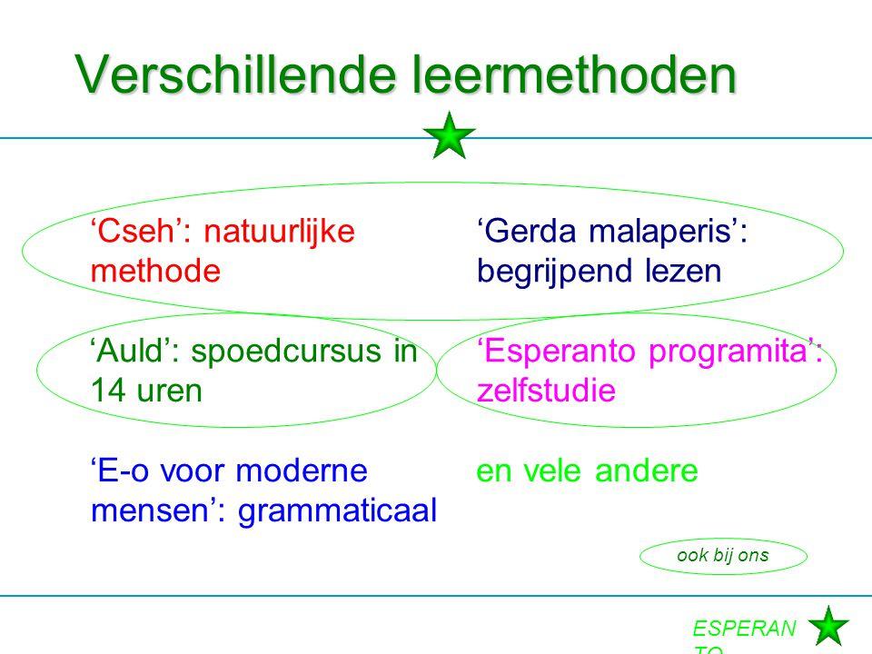 Verschillende leermethoden