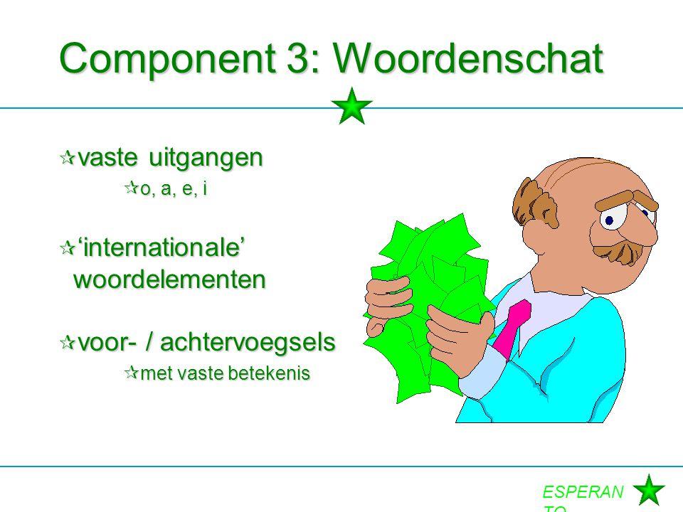 Component 3: Woordenschat