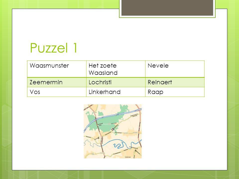 Puzzel 1 Waasmunster Het zoete Waasland Nevele Zeemermin Lochristi