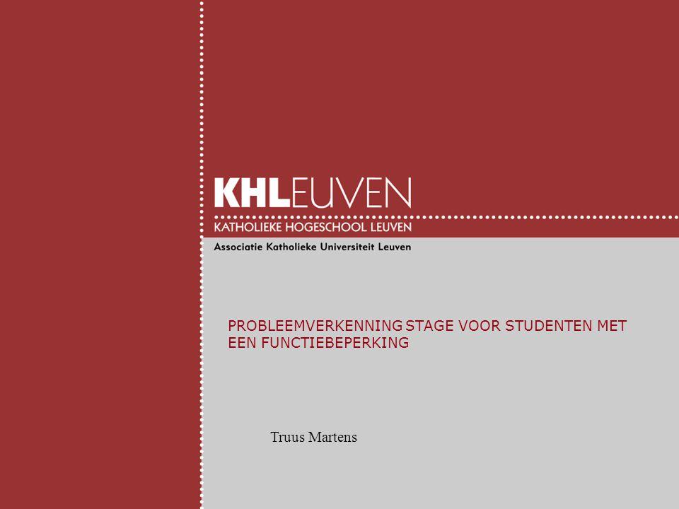PROBLEEMVERKENNING STAGE VOOR STUDENTEN MET EEN FUNCTIEBEPERKING