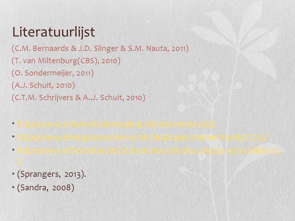 Literatuurlijst http://www.netwerkinbeweging.nl/interventies/237