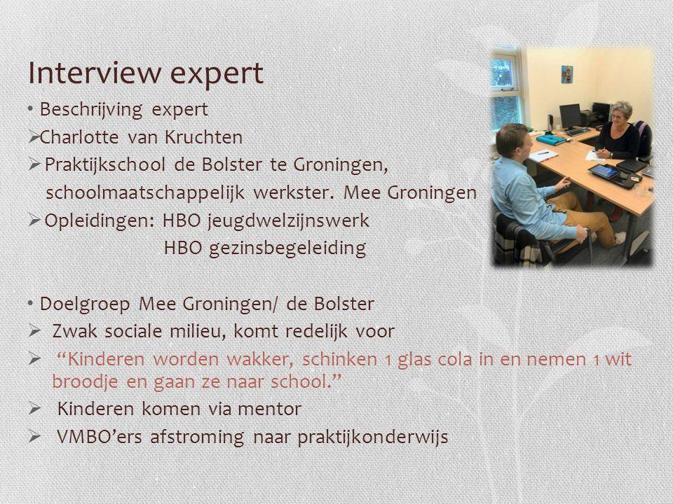 Interview expert Beschrijving expert Charlotte van Kruchten