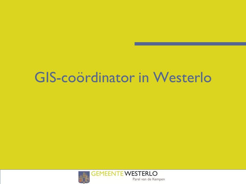 GIS-coördinator in Westerlo