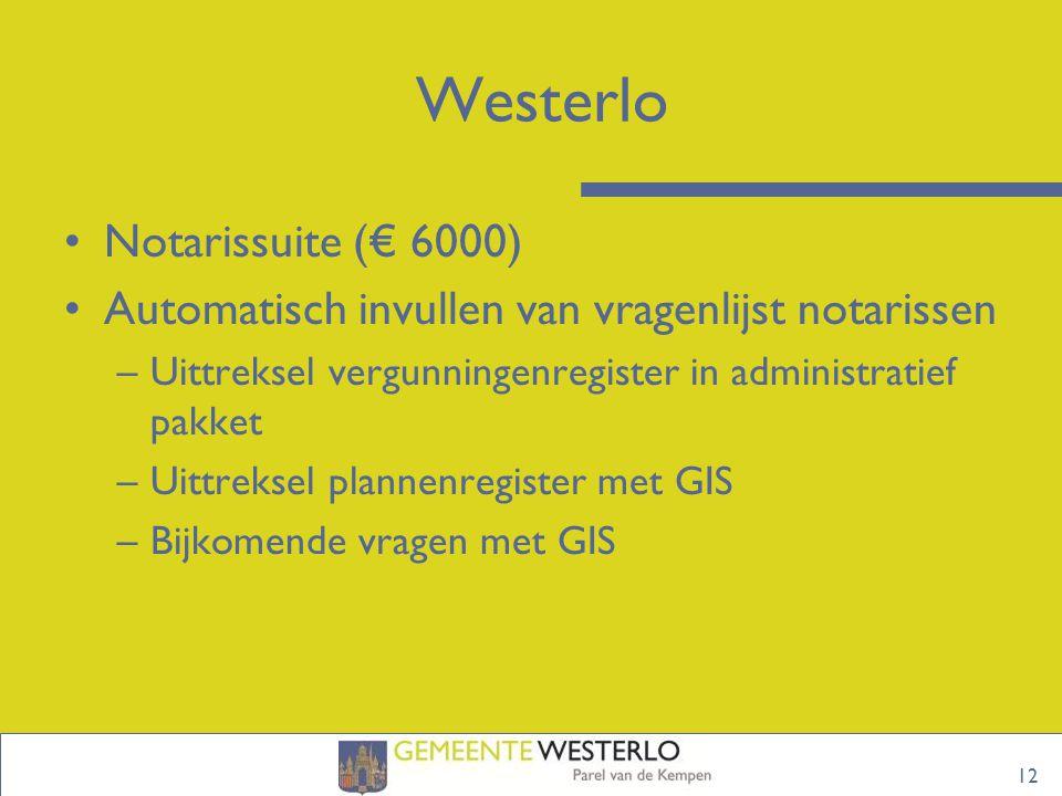 Westerlo Notarissuite (€ 6000)
