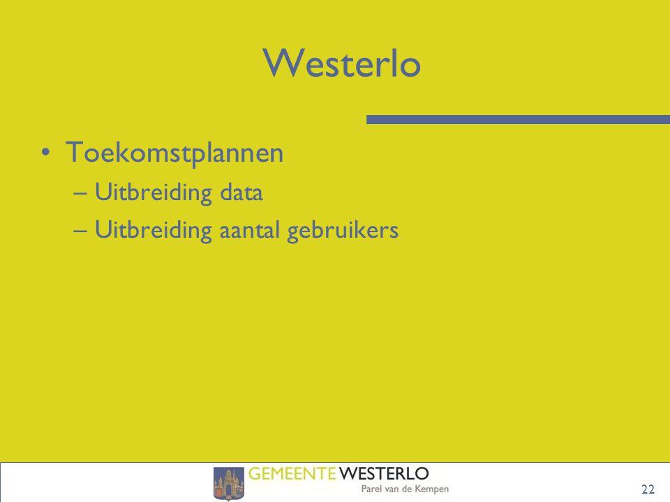 Westerlo Toekomstplannen Uitbreiding data