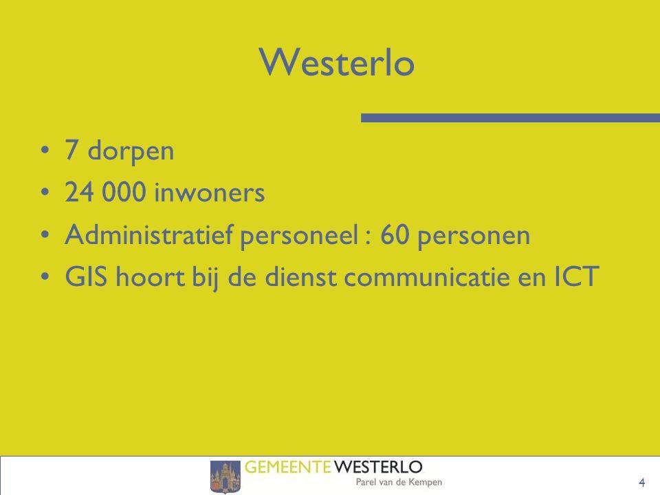 Westerlo 7 dorpen 24 000 inwoners