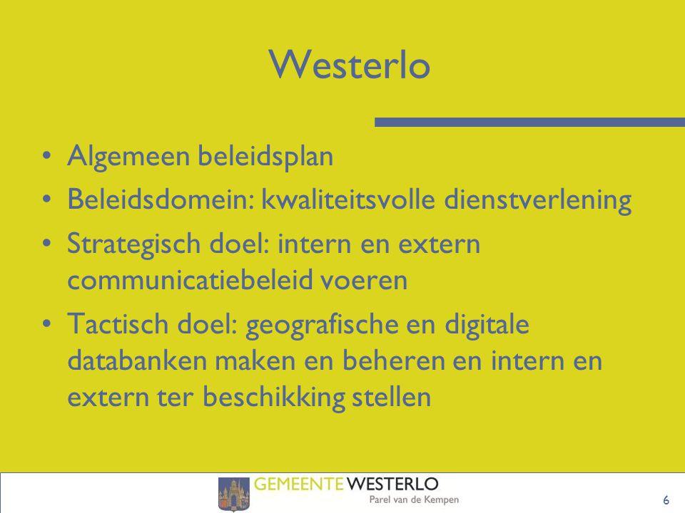 Westerlo Algemeen beleidsplan