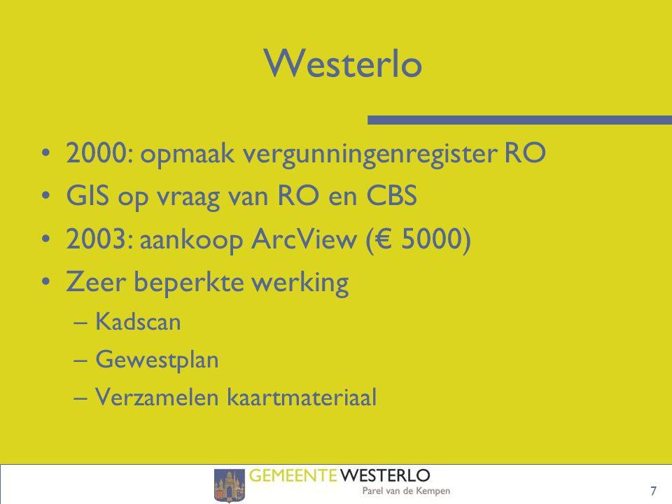 Westerlo 2000: opmaak vergunningenregister RO