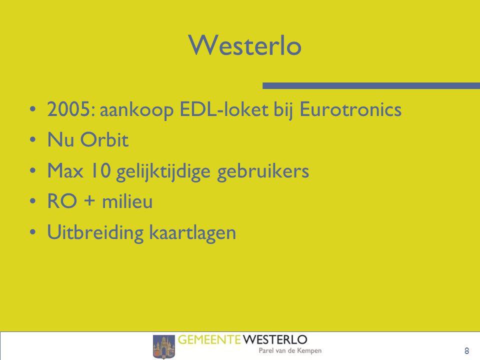Westerlo 2005: aankoop EDL-loket bij Eurotronics Nu Orbit