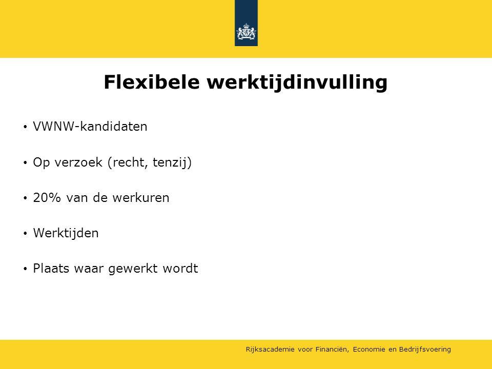 Flexibele werktijdinvulling