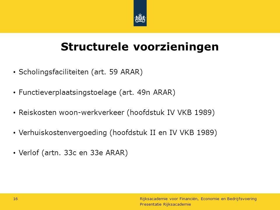 Structurele voorzieningen