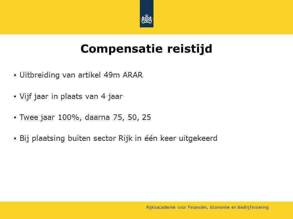 Compensatie reistijd Uitbreiding van artikel 49m ARAR