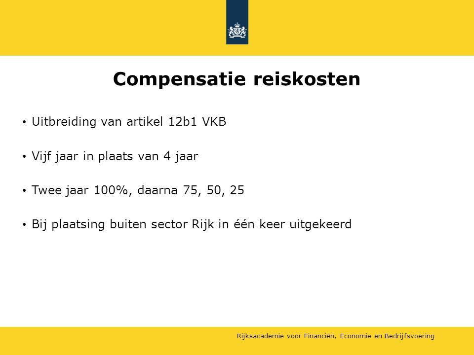 Compensatie reiskosten