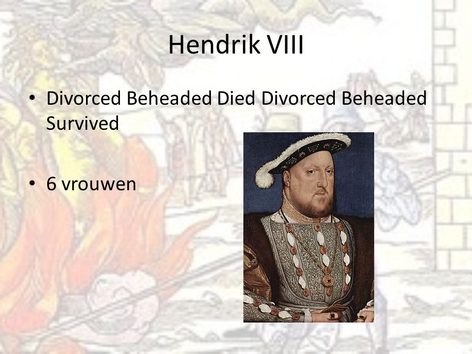 Hendrik VIII Divorced Beheaded Died Divorced Beheaded Survived
