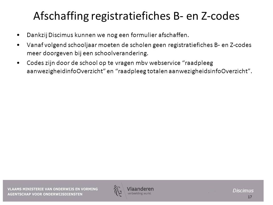 Afschaffing registratiefiches B- en Z-codes