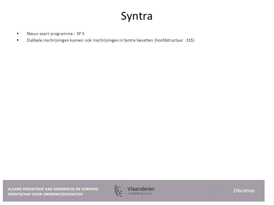 Syntra Nieuw soort programma : SP 5
