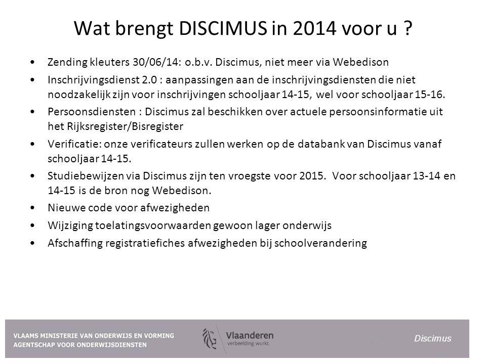 Wat brengt DISCIMUS in 2014 voor u