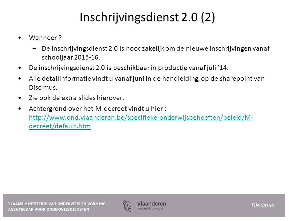 Inschrijvingsdienst 2.0 (2)