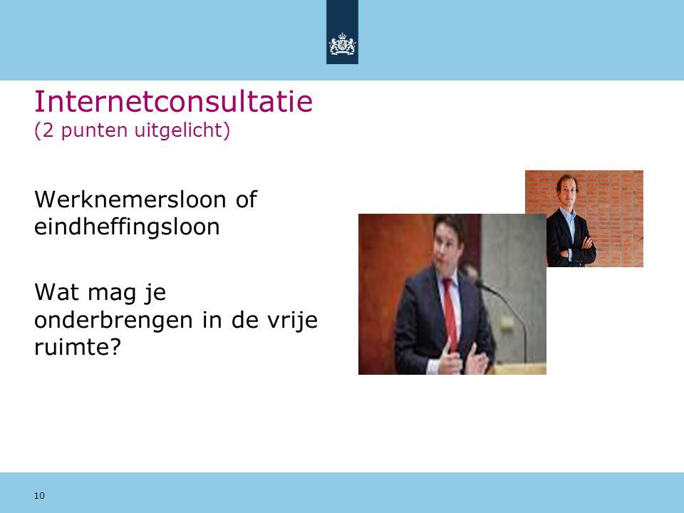 Internetconsultatie (2 punten uitgelicht)