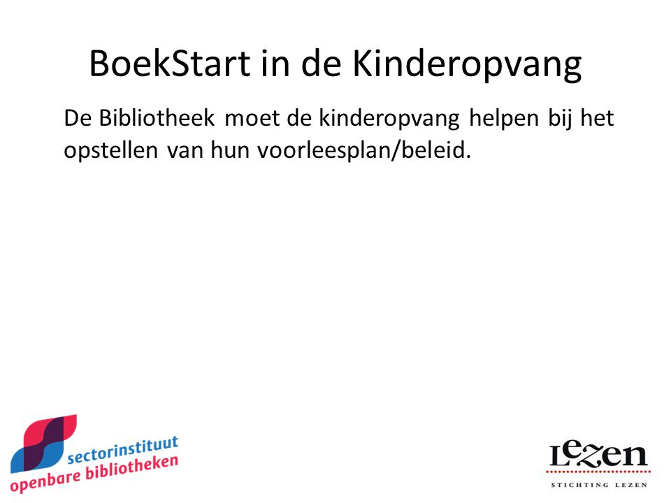 BoekStart in de Kinderopvang