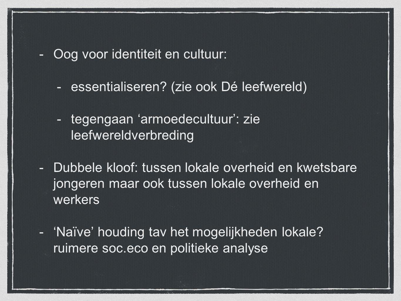 Oog voor identiteit en cultuur: