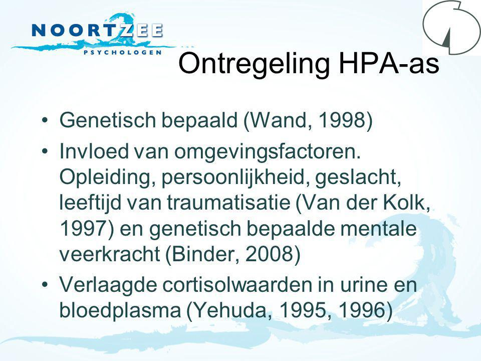 Ontregeling HPA-as Genetisch bepaald (Wand, 1998)