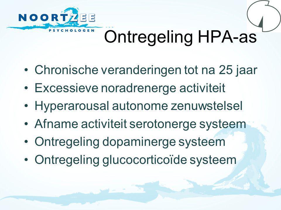 Ontregeling HPA-as Chronische veranderingen tot na 25 jaar